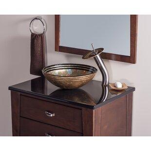 Shopping for Celebrazione Glass Circular Vessel Bathroom Sink By Novatto