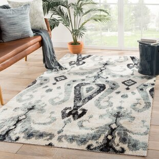 Jambi Ikat Beige/Black Indoor/Outdoor Area Rug