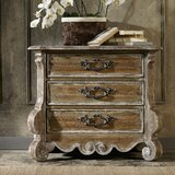 Chatelet 3 - Drawer Solid Wood Bachelor's Chest in Poplar/Amber and Caramel by Hooker Furniture
