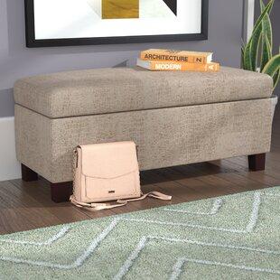 Wrought Studio Roper Hinged Top Aldo Overcast Upholstered Storage Bench