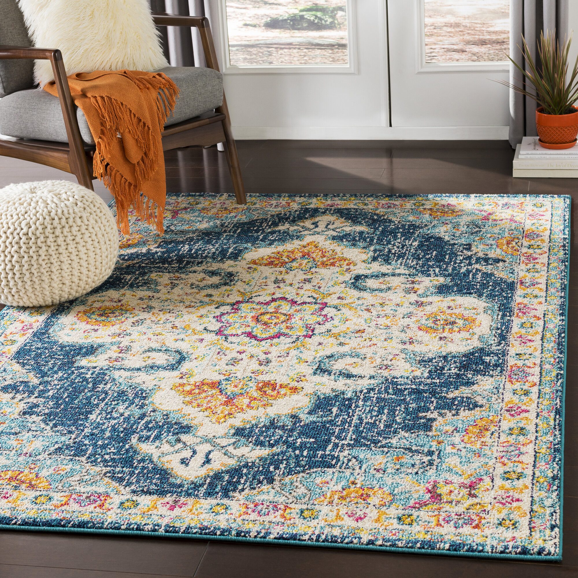 Bungalow Rose Amanah Oriental Jute Area Rug Reviews Wayfair