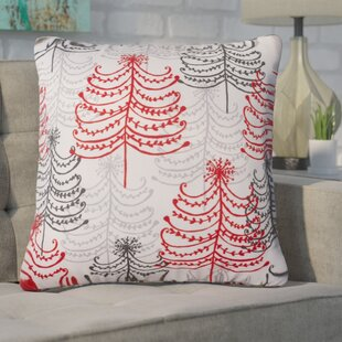 Henriques Doodle Trees Throw Pillow