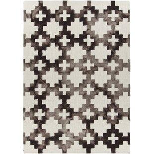 Top Brands of Garon Hand-Tufted Brown/White Area Rug ByBrayden Studio