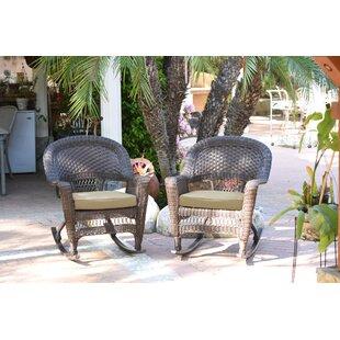 Burtch Wicker Rocking Chairs (Set of 2) Three Posts
