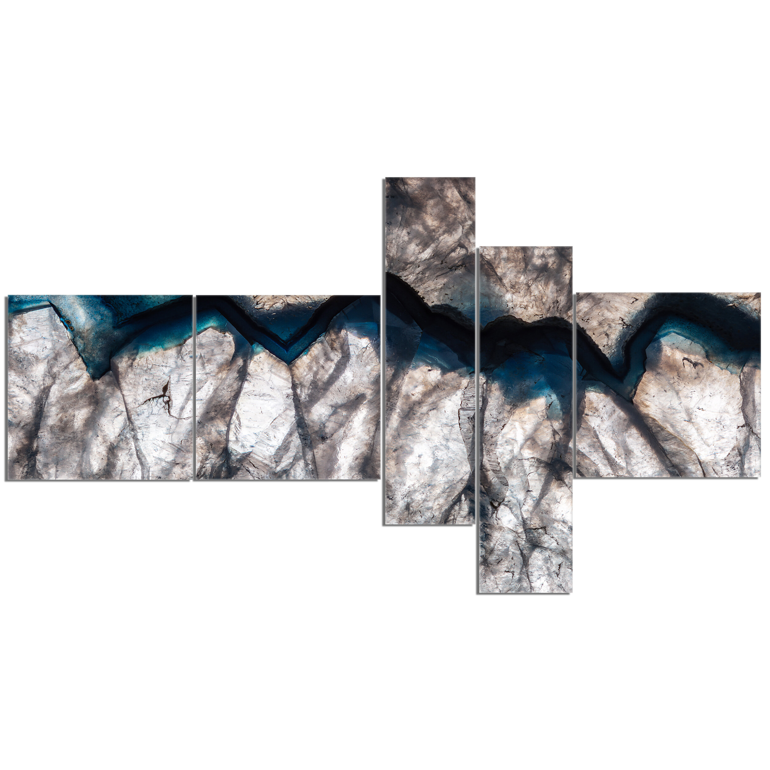 'Backlit Mineral Macro' Graphic Art Print Multi-Piece Image on Canvas