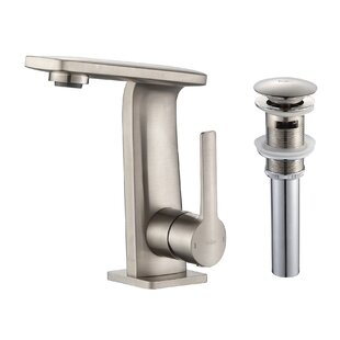 Kraus Novus Single Hole Bathroom Faucet with Pop-Up Drain