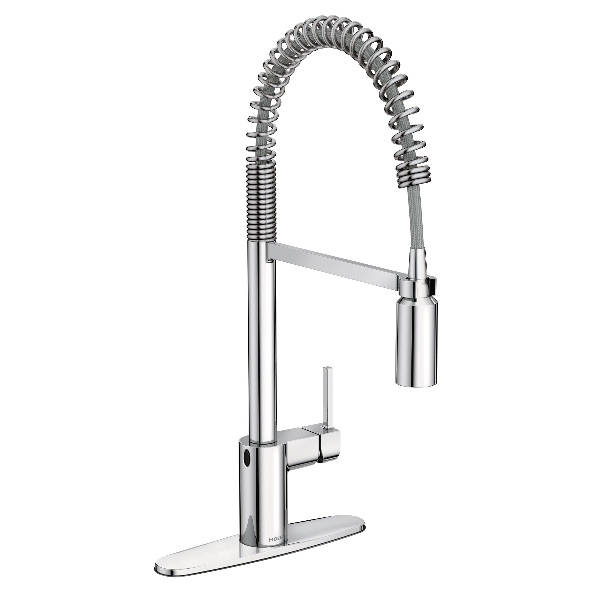 spout front hole single kitchen with spring down white pull osorio faucet