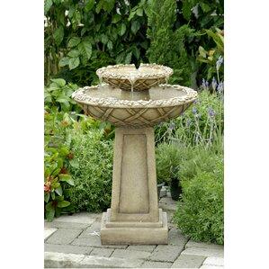 tiered bird bath fountain