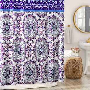 Loraine Mandala Burst Vinyl Shower Curtain By Ebern Designs