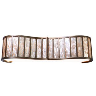Compare & Buy Affinity Sustainable Shell 3-Light Bath Bar By Varaluz