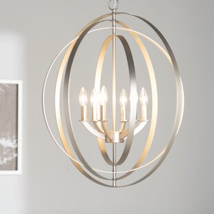Brayden Studio Morganti 6-Light Globe Chandelier