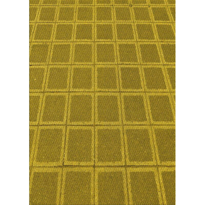 East Urban Home Abstract Wool Yellow Area Rug Wayfair