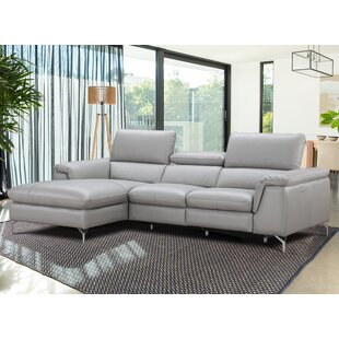 J&M Furniture Serena Leather Reclining Sectional