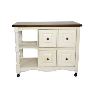 Lockwood 4 Drawer 2 Shelf Kitchen Cart Loon Peak