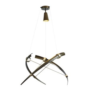 Hubbardton Forge Crescent 1-Light Novelty Pendant