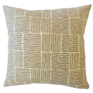 Latasha Striped Down Filled Throw Pillow
