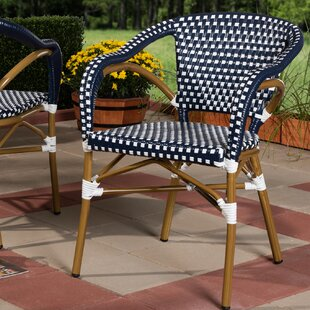 Kira Classic French Stacking Patio Dining Chair (Set of 2)