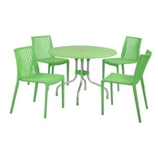 Brayden Studio Sletten 4 Piece Dining Set