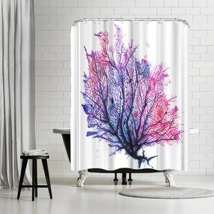 Sam Nagel Sea Fan Purple Shower Curtain