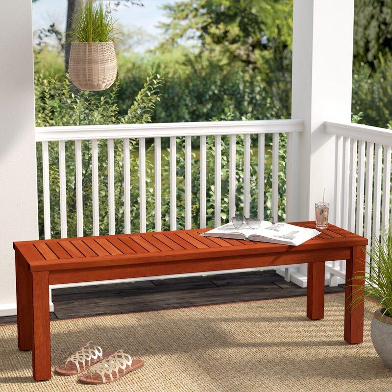 Beachcrest Home Elsmere Eucalyptus Picnic Bench & Reviews | Wayfair