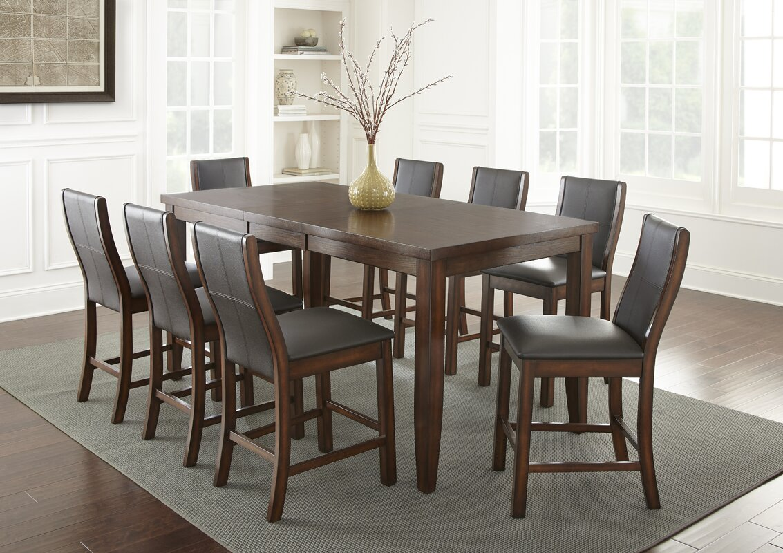 Aale 9 Piece Counter Height Dining Set