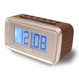 AM/FM Dual Alarm Clock with Digital Retro
