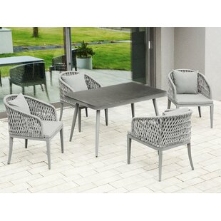 Hermanson 4 Seater Dining Set With Cushions By Sol 72 Outdoor