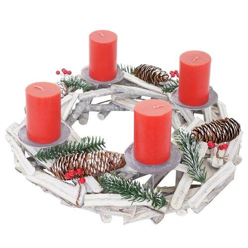 Adventskranz 40 cm Die Saisontruhe   Weihnachten > Adventskranz und Weinachtsleuchter   Die Saisontruhe