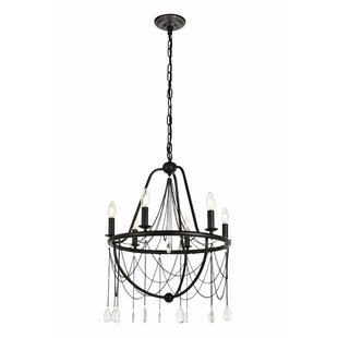Gracie Oaks Woodhull 6-Light Chandelier