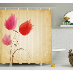 Tulips Shower Curtain By East Urban Home