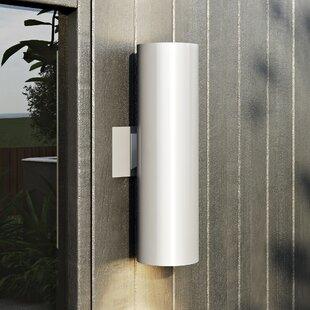 Orren Ellis Creissant Modern 2-Light Outdoor Sconce