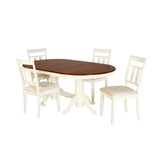 Alvy 5 Piece Solid Wood Dining Set by Aug..