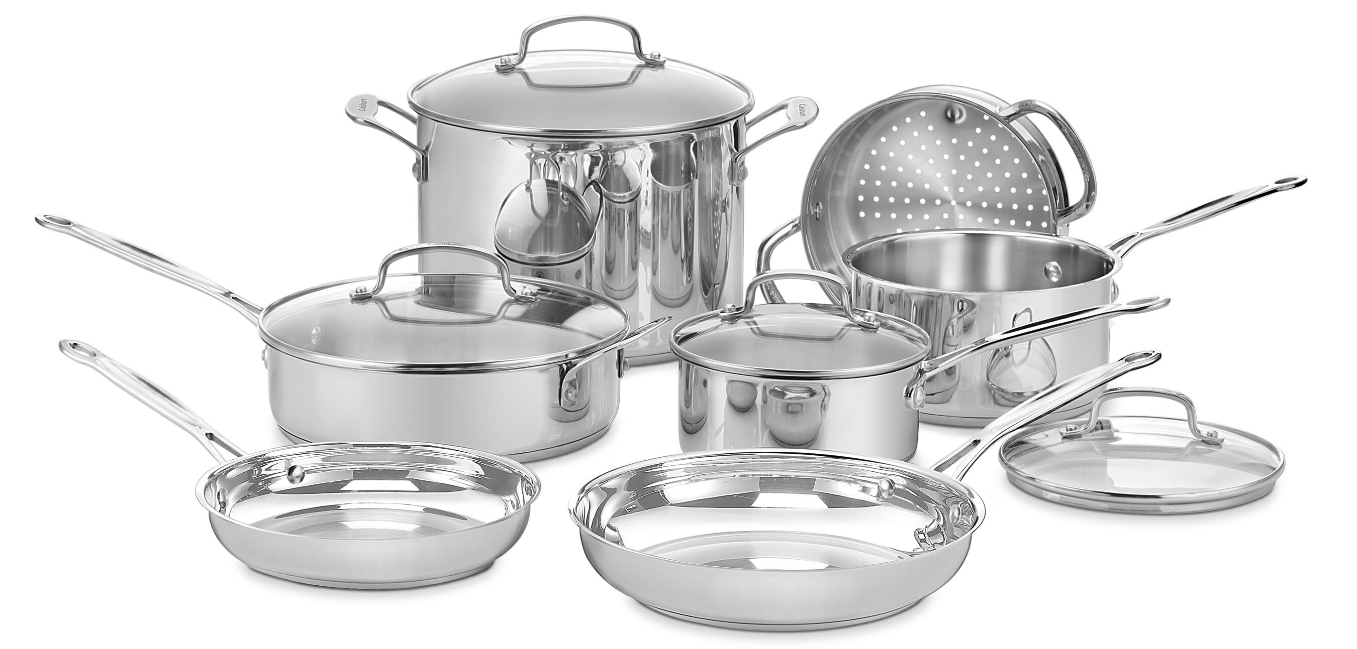 Cuisinart Chef S Classic 11 Piece Stainless Steel Cookware Set Reviews Joss Main