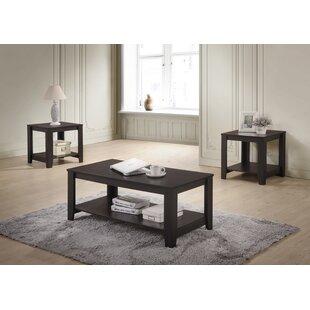 Winston Porter Halbert 3 Piece Coffee Table Set