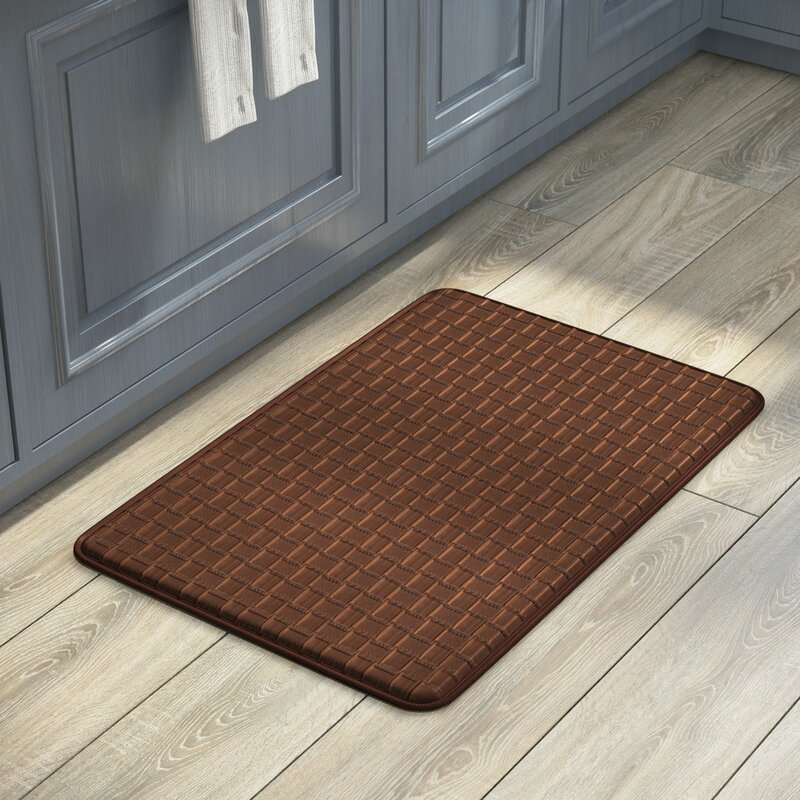 Cary Anti Fatigue Faux Leather Kitchen Mat