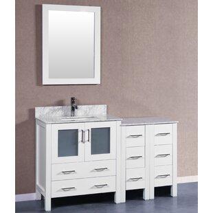 Camillo 54 Single Bathroom Vanity Set with Mirror by Bosconi