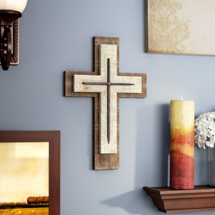 Superior Weathered Wood Cross Wall Décor