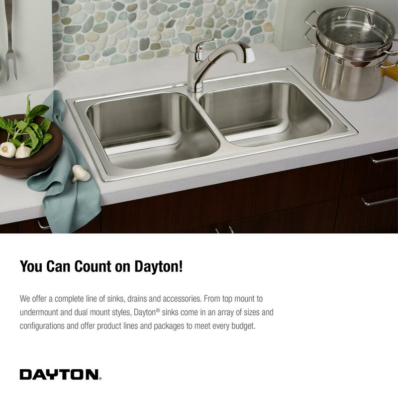 dayton 24   x 18   undermount kitchen sink elkay dayton 24   x 18   undermount kitchen sink  u0026 reviews   wayfair  rh   wayfair com