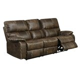 Diorio 85 Wide Faux Leather Pillow Top Arm Reclining Sofa by 17 Stories