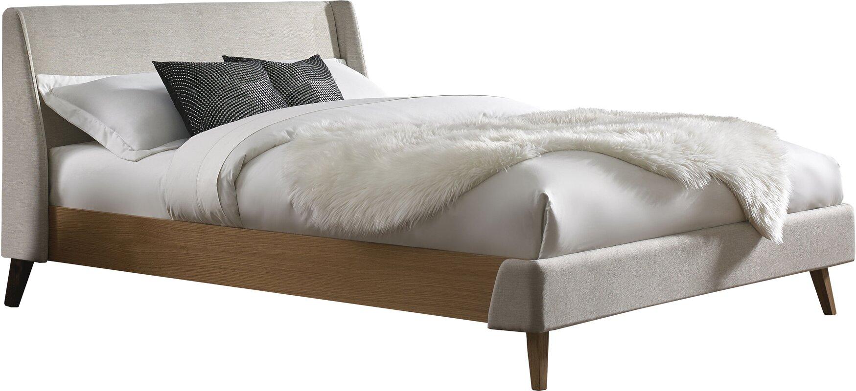 palmer upholstered platform bed reviews allmodern