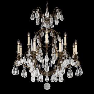 Schonbek Versailles Rock Crystal 12-Light Chandelier