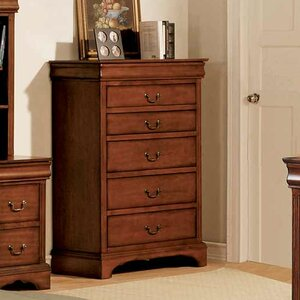 Wood And Mirrored Dresser