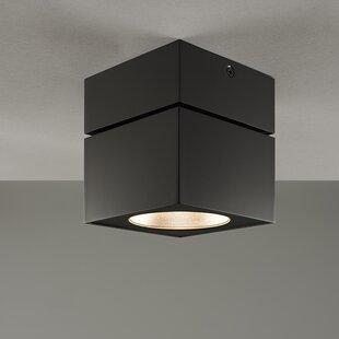 Surface Mount Square 1-Light LED Flush Mount by Bruck Lighting