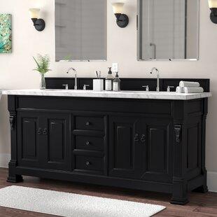 Bedrock 72 Double Antique Black Bathroom Vanity Set By Darby Home Co