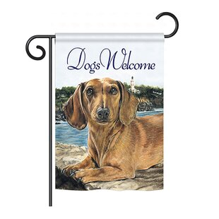 Dachshund 2-Sided Vertical Flag by Breeze Decor