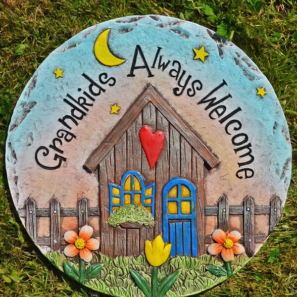 45cm Diameter River Rock Hard Wearing Garden Stepping Stone Recycled Rubber