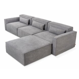 Mix Modular Sectional with Ottoman