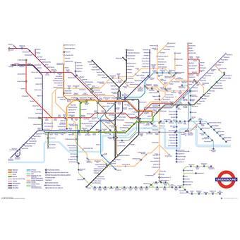 Transport Of London Map.Transport For London Underground Map Framed Memorabilia