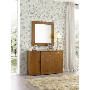 Hiltonia 4 Drawers Sideboard with Mirror by Ivy Bronx