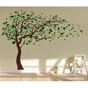 Tree Blowing In The Wind Wall Decal Part 21